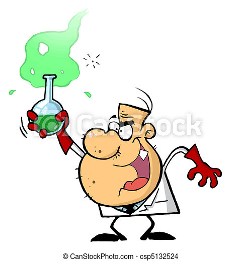 Cartoon Character Mad Scientist - csp5132524
