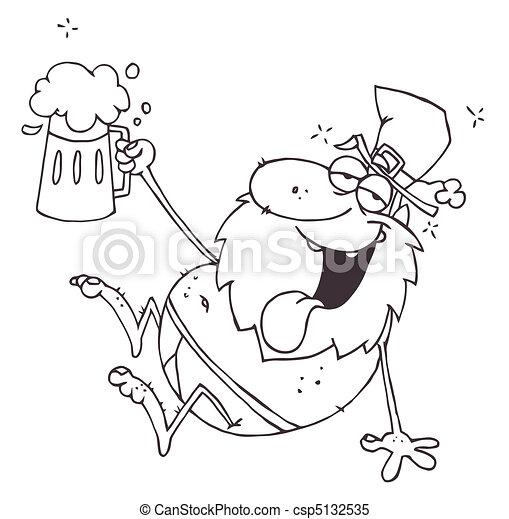 clipart vector van leprechaun  geschetste  dronken beer can clip art copyright free beer can clip art copyright free