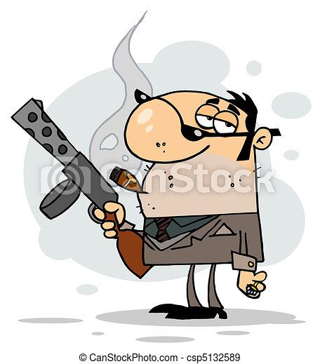 Cartoon Character Mobster - csp5132589