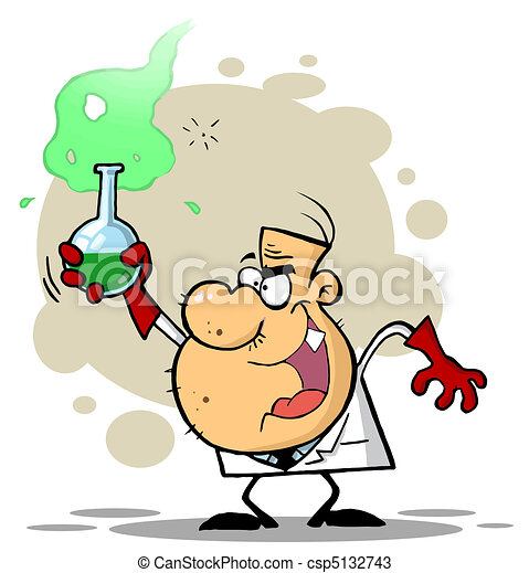 Scientist Holding A Green Potion - csp5132743