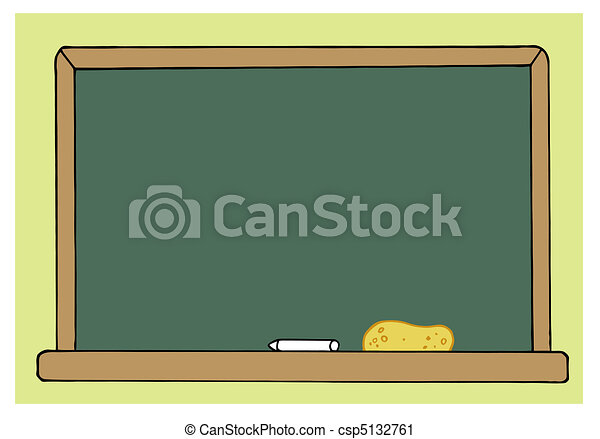 Blank Green Class Room Chalkboard - csp5132761