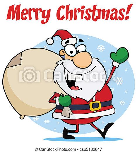 Lustig Weihnachten Santa