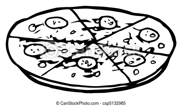 矢量-比萨饼, 馅饼, pepperoni