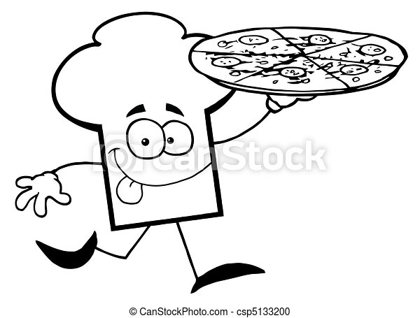 Pizza Chef Hat Chef Hat Guy Carrying a Pizza