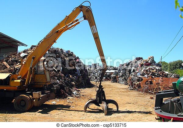 scrap metal scrap-iron junk - csp5133715