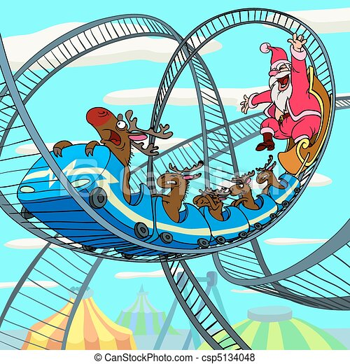 Riding Santa Claus - csp5134048