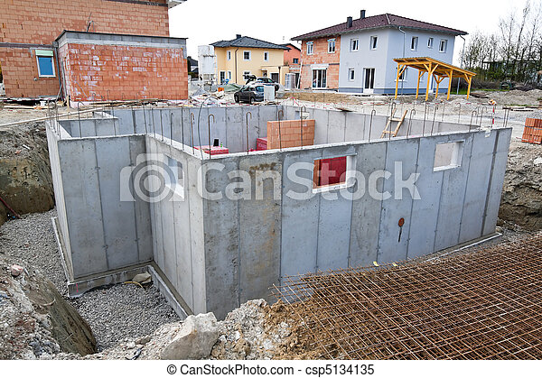 Townhouses of a residential house. Basement for family home. - csp5134135