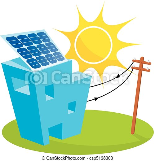Solar house - csp5138303