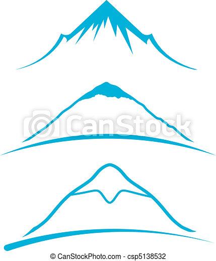 Mountain icons - csp5138532