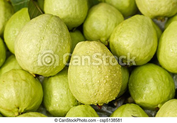Photographies de goyaves eau vert frais fruit - Liste fruits exotiques avec photos ...