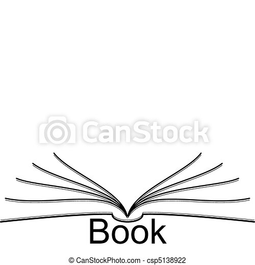 Vector Illustration of book - open book csp5138922 ...