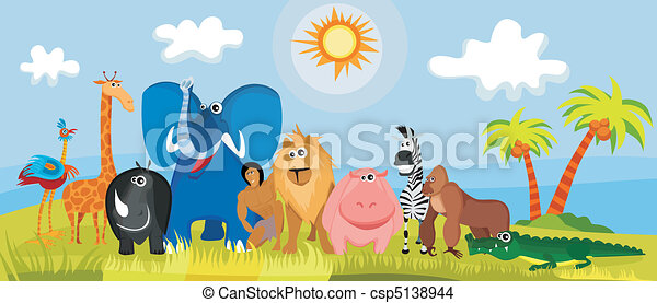 cute africa animals - csp5138944
