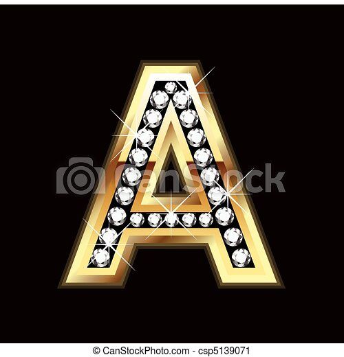 A bling letter - csp5139071
