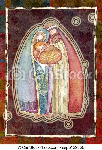 Christmas, Jesus Christ , Joseph, M - csp5139350
