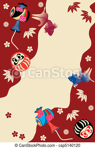 Japanese traditional card - csp5140120