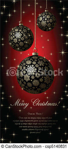 Merry Christmas card. - csp5140831