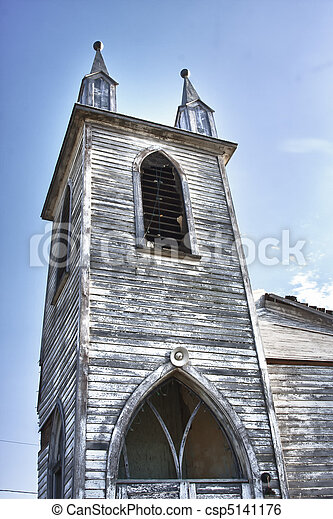 Old Abandoned Church - csp5141176