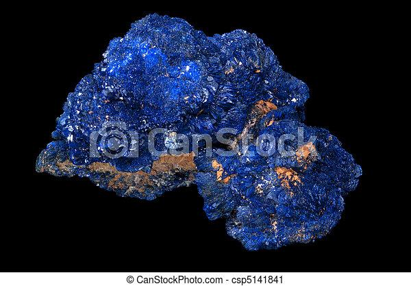 Azurite mineral stone.