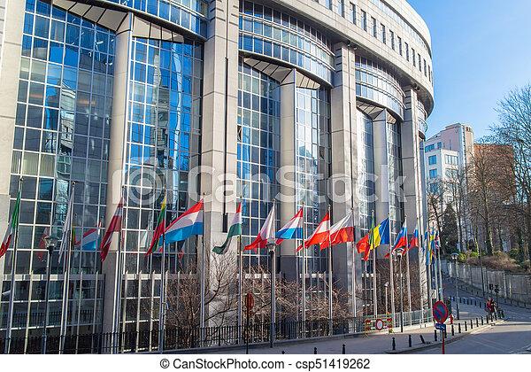 ブリュッセル, 議会, オフィス, ヨーロッパ, belgium.   CanStock