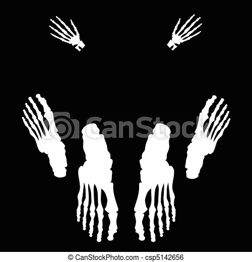 sex legs skeleton illustration - csp5142656