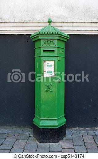 19th century Irish Postbox  - csp5143174