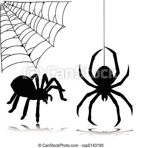 spider two vector silhouettes - csp5143190