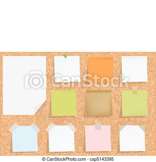 Cork Board With Notes - csp5143395