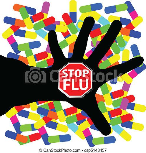 stop flu illustration - csp5143457
