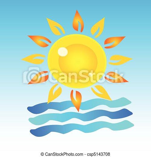 symbol of summer art - csp5143708