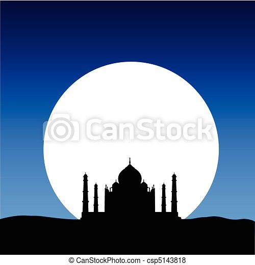 taj mahal on the moon - csp5143818
