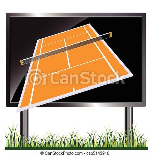 tennis court on the billboard - csp5143910