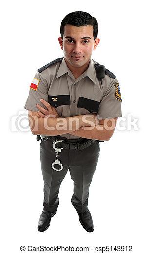 Prison Guard Warden or Policeman - csp5143912
