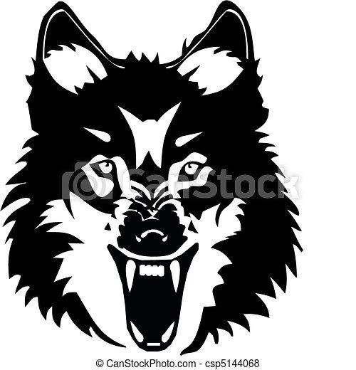 Wolf illustration - csp5144068