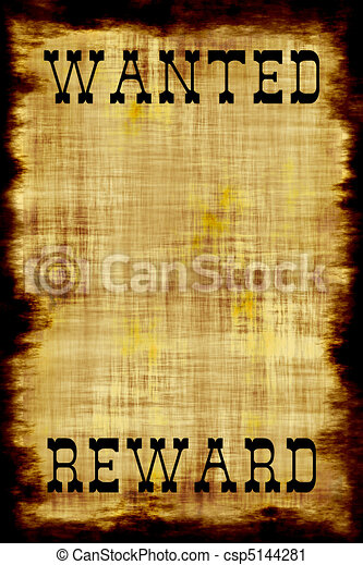 Blank Wanted Outlaw Poster - csp5144281