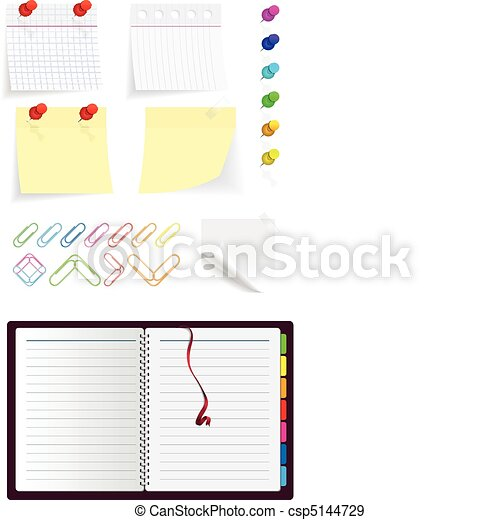 stationery icon set - csp5144729