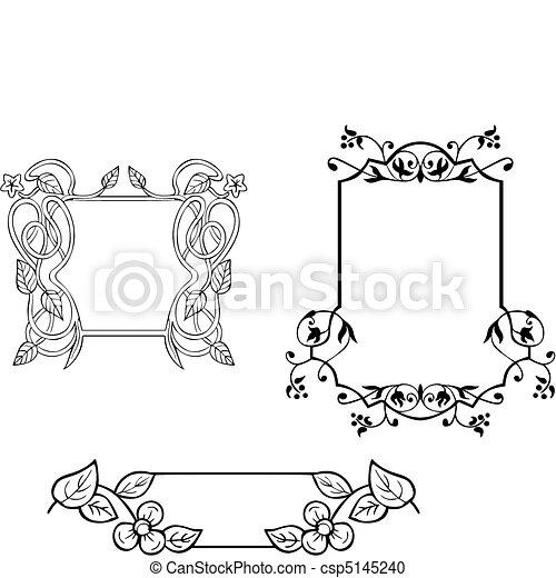 Vector clip art de floral ornamental marco decoraciones - Dibujos de decoracion ...