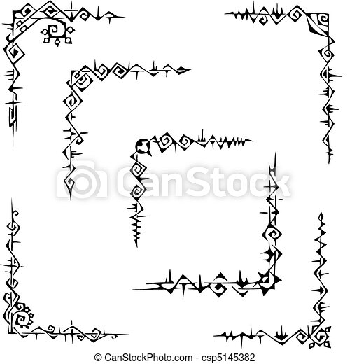Ornamental corner patterns - csp5145382