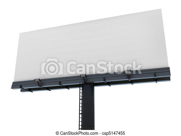Blank isolated billboard - csp5147455