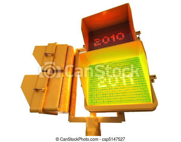 Positive 2011 3d semaphore - csp5147527