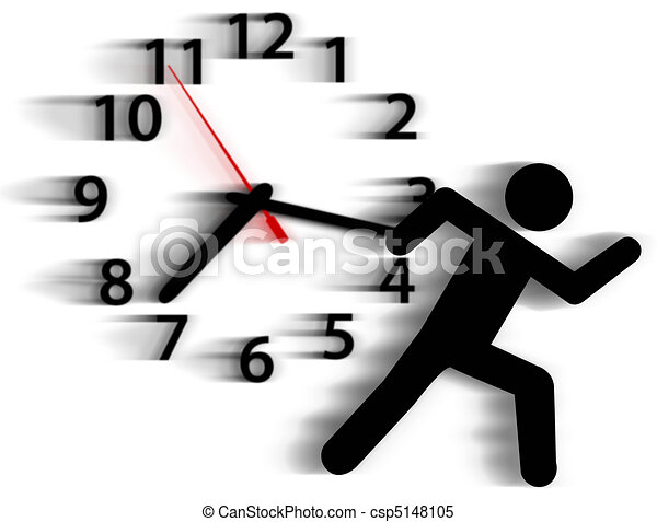 Person symbol run time race against clock - csp5148105
