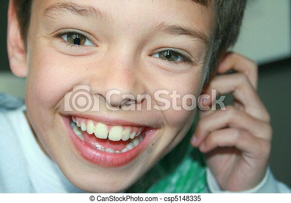 menino, coloboma, íris - csp5148335