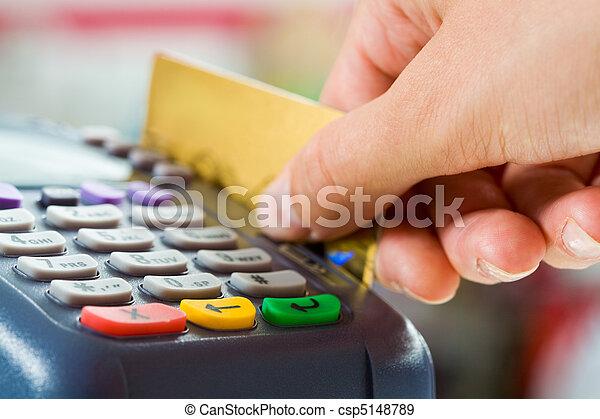betalning, Kort - csp5148789
