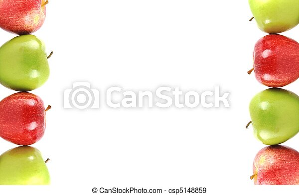 Stock Photographs of Colorful apple border - Colorful apple border ...
