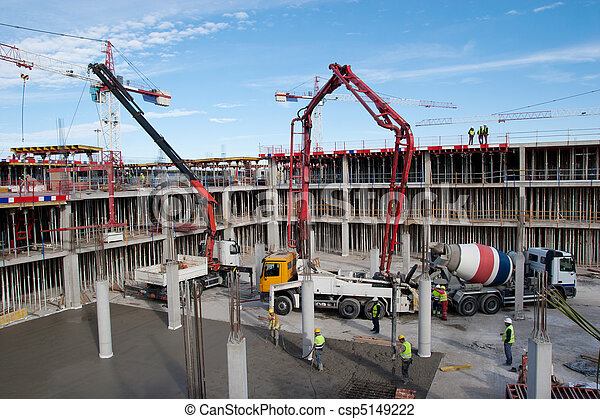 konstruktion, plats - csp5149222