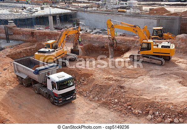 konstruktion, plats - csp5149236