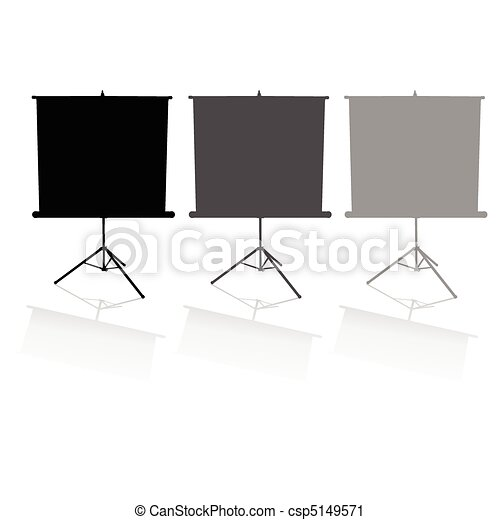 three screens for the film - csp5149571