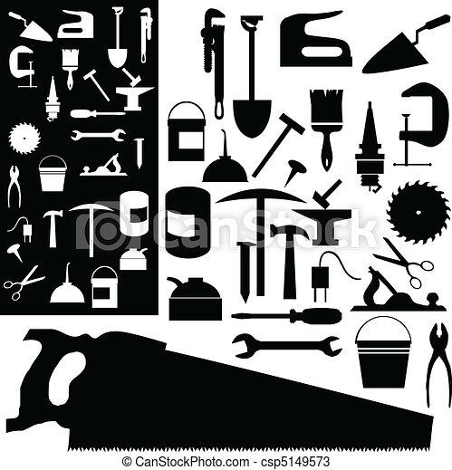tools mix vector silhouettes - csp5149573