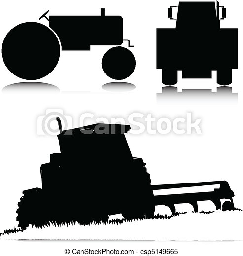 tractor vector illustration - csp5149665