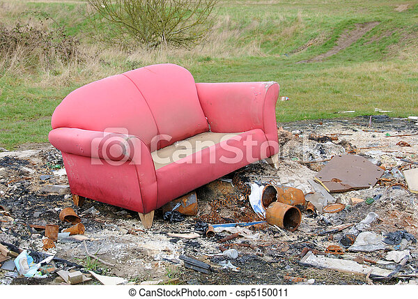 Example of 'fly tipping' in the UK - csp5150011