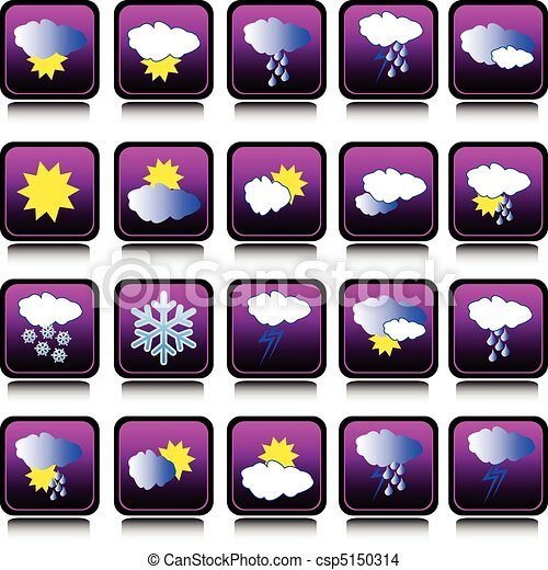 weather forecast icon collection - csp5150314